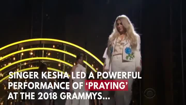 Kesha conmovedora interpretación de Praying en los Grammys 2018