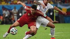 Koke, con la selección española ante Chile.