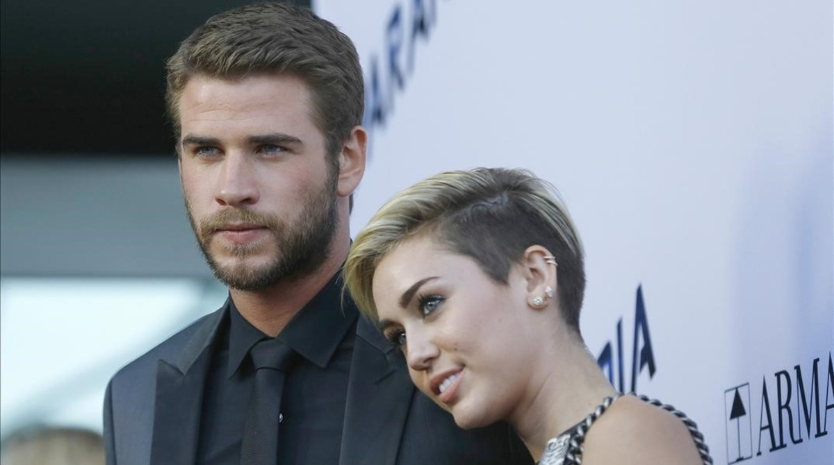 Liam Hemsworth y Miley Cyrus, en el 2013.