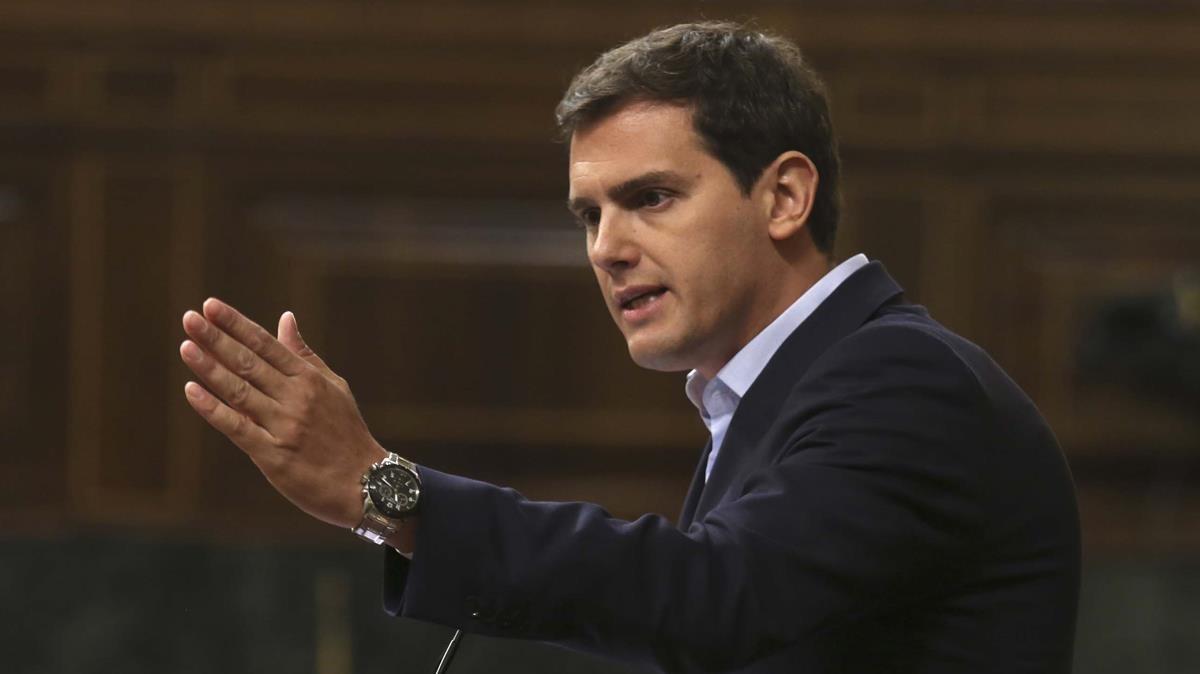 El líder de Ciudadanos, Albert Rivera, en una intervención en el Congreso.