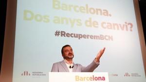 El líder de ERC en el Ayuntamiento de Barcelona, Alfred Bosch.