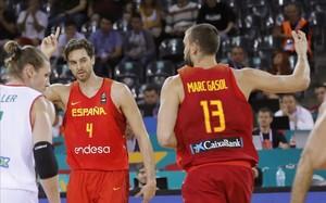 Pau Gasol bat rècords i Espanya guanya Hongria