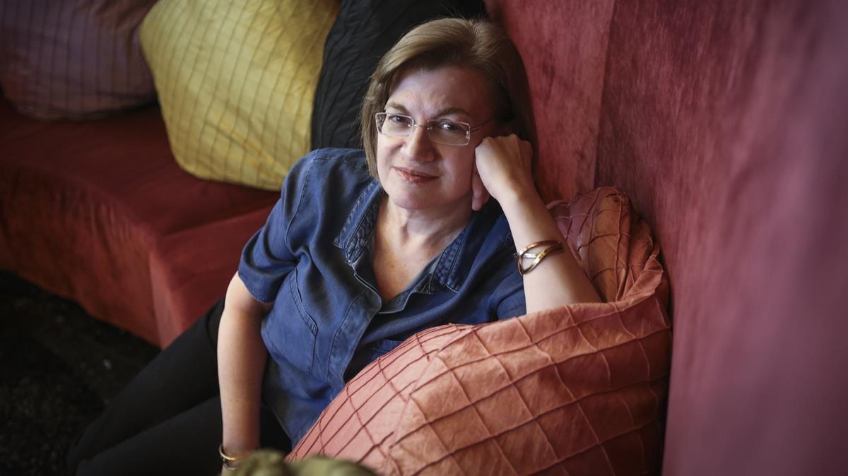Dolores Conquero, en el hotel Casa Fuster de Barcelona.