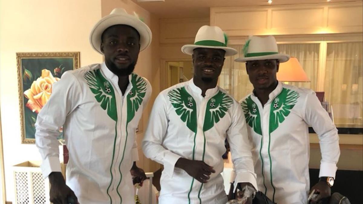 Jugadores de la selección nigeriana.
