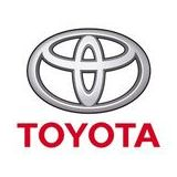 El logo de Toyota en una feria en Tokio.