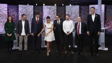 Debate de las elecciones catalanas: Choque entre bloques