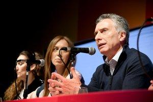 El presidente de Argentina, Mauricio Macri, en rueda de prensa.