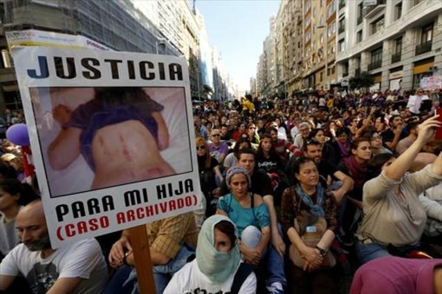 Manifestación contra la violencia machista, en noviembre, en Madrid.