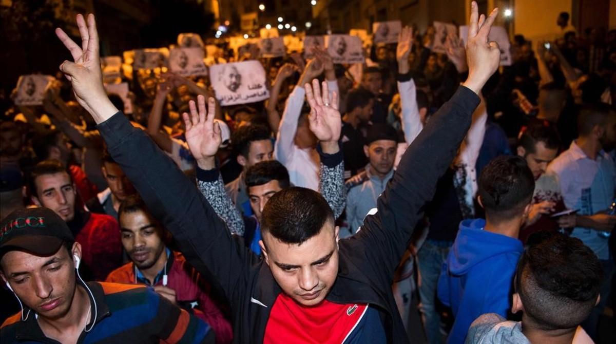 Manifestación de protesta en Alhucemas, el pasado 29 de mayo.