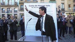Manuel Valls, a principios de diciembre, en un acto enel Raval.