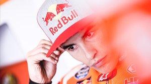 Marc Márquez (Honda) se prepara para la última sesión de hoy en Sepang (Malasia).