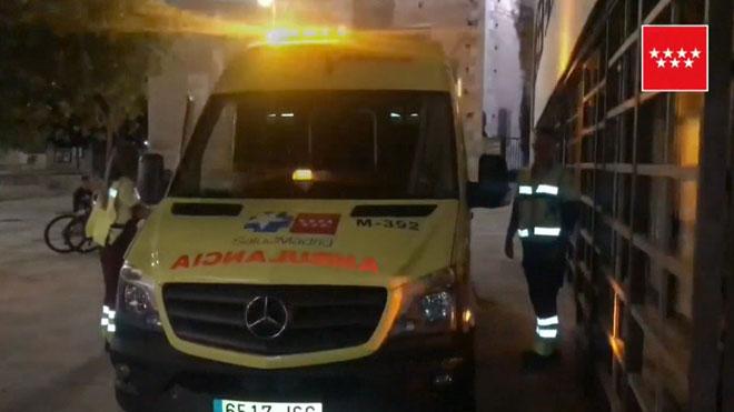 Muere un hombre de 74 años por un incendio en su dormitorio en Meco, Madrid.