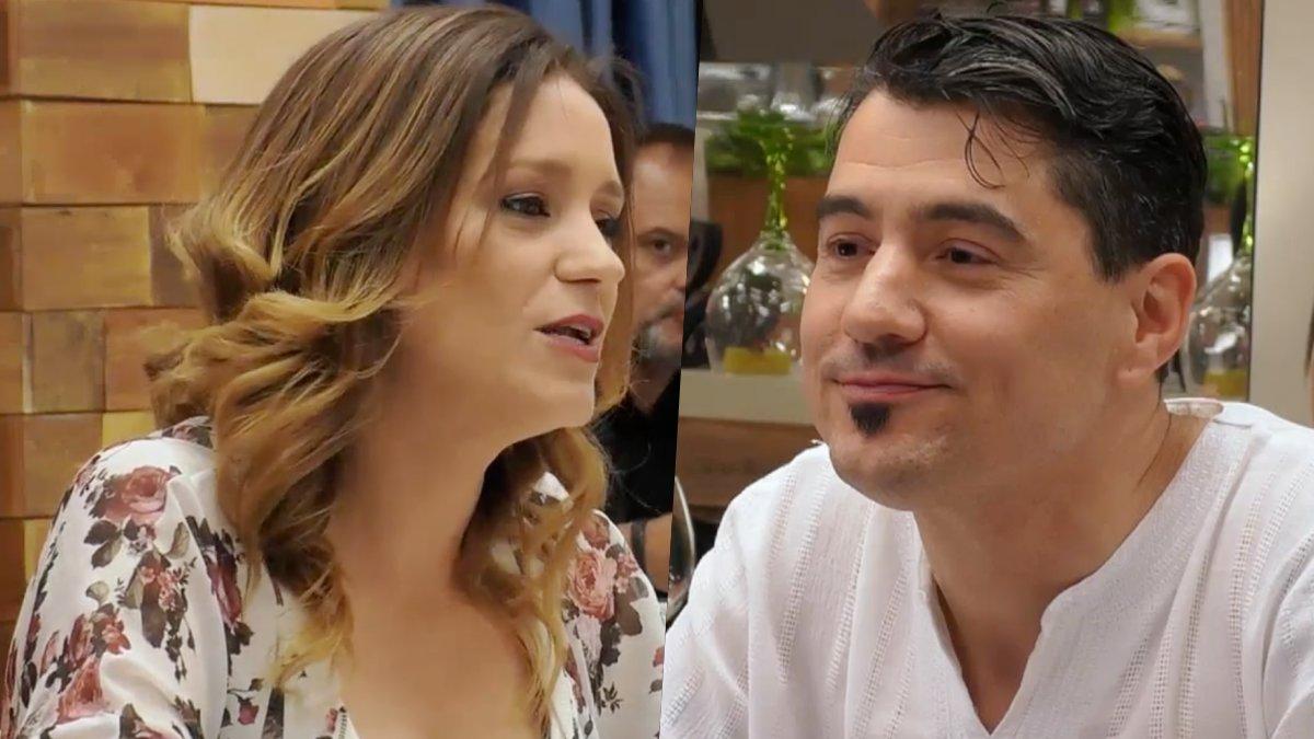 Noelia y Jesús en 'First Dates'.