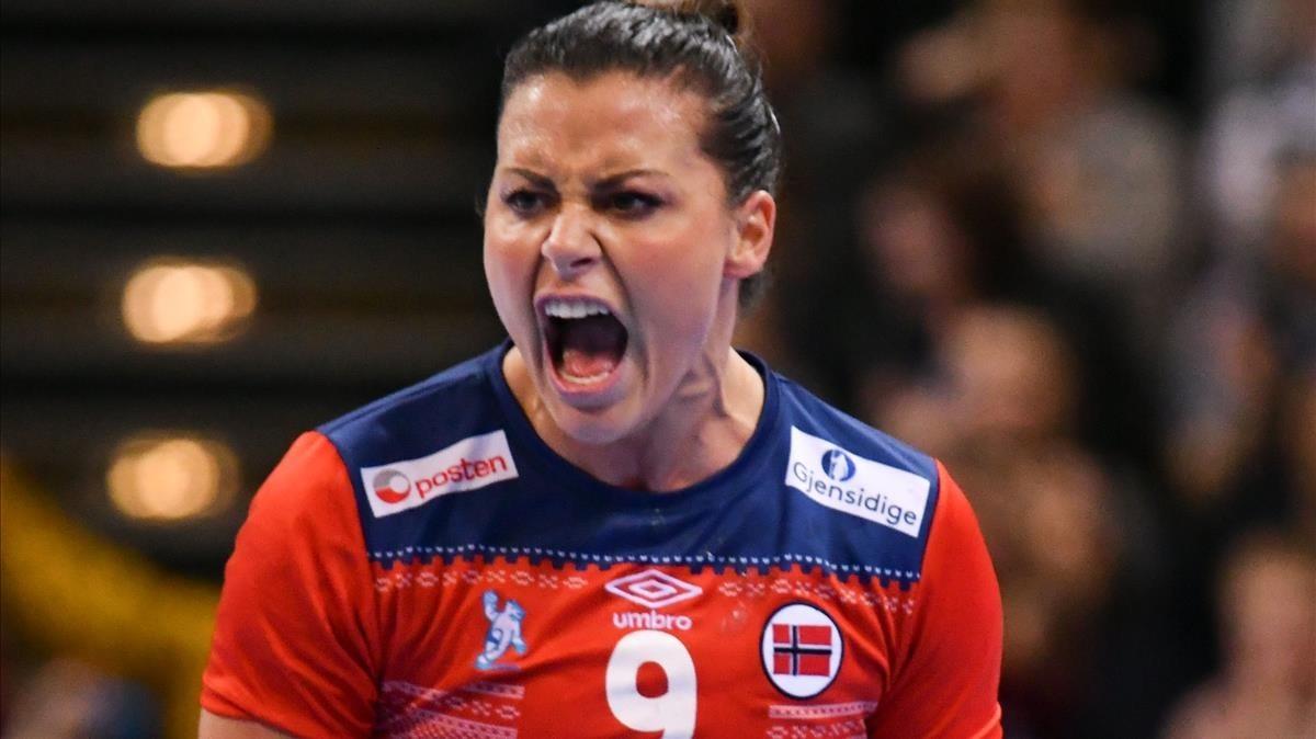 Nora Mork, estrella de la selección femenina noruega de balonmano.