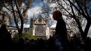 Imagen de Notre Dame dos días después de extinguido el incendio.