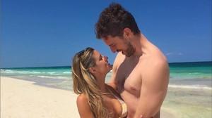 Pau Gasol y su novia, la americana Catherine McDonell.