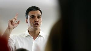 Pedro Sánchez, durante un acto en Fuenlabrada (Madrid), el pasado martes.