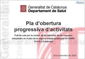 El plan de desescalada de cuatro fases de la Generalitat