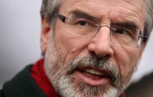 El president del Sinn Féin, Gerry Adams