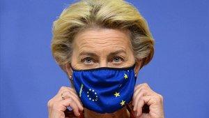 La presidenta de la Comisión Europea, Ursula von der Leyen, este jueves en Bruselas.