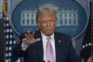 El presidente de EEUU, Donald Trump, en una comparecencia en la Casa Blanca el 19 de agosto.