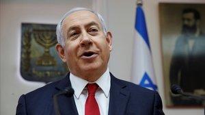 El primer ministro israelí en funciones, Benjamin Netanyahu.