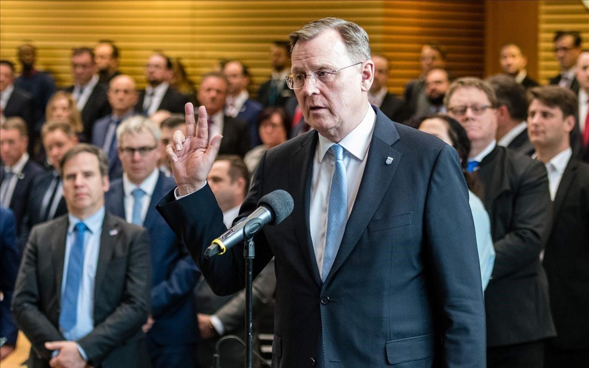 Ramelow jura el cargo de primer ministro de Turingia.