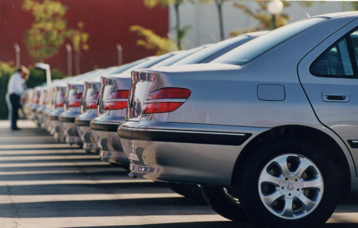 Imagen de archivo de una flota de coches