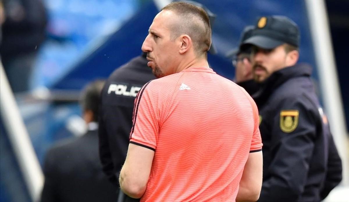 Ribery, uno de los jugadores envueltos en un escándalo sexual, en el Vicente Calderón