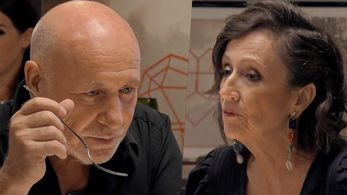 Salvador y Mary en 'First Dates Crucero'.