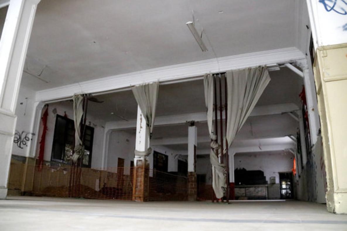 Situación actual de la planta baja del edificio del Cafè Nou de Mataró.