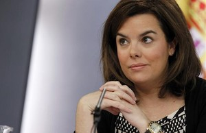 Soraya Sáenz de Santamaría, durant la roda de premsa posterior al Consell de Ministres.