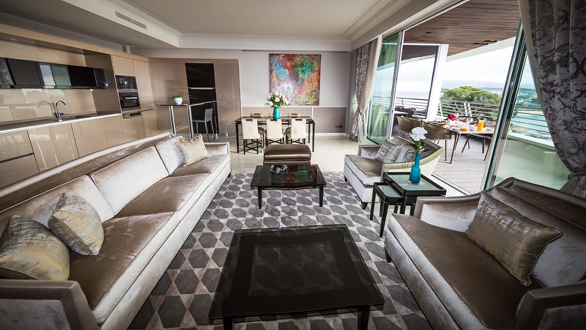 Interior de una suite.