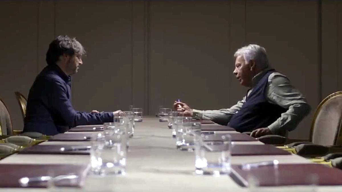 Jordi Évole entrevista a Felipe González en el programa de LaSexta Salvados.