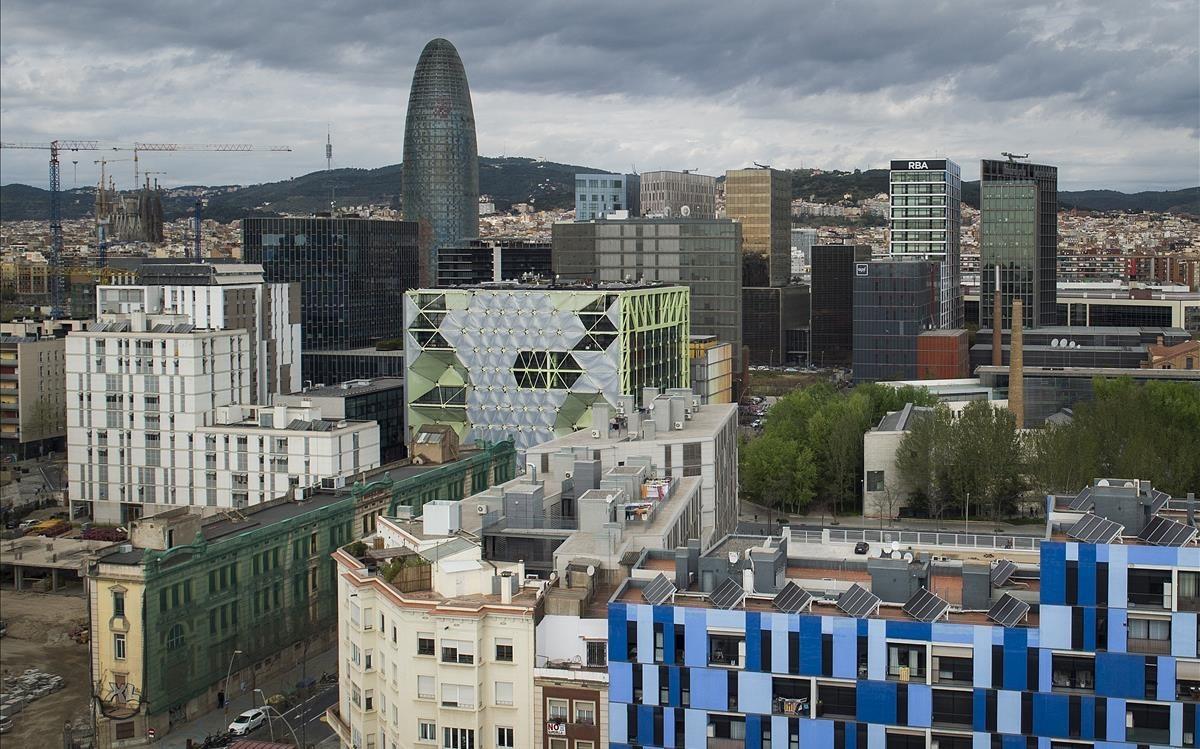 La torre Agbar en Barcelona.