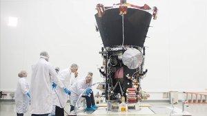 La sonda solar Parker de la Nasa, en una imagen del 28 de marzo del 2018.