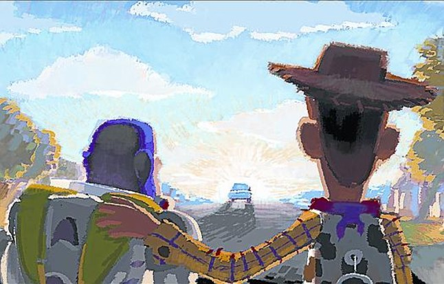 Uno de los dibujos previos a la película 'Toy Story'.