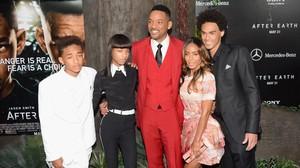 Una imagen de archivo de Will Smith, Jada Pinkett y sus hijos, Trey, Jaden y Willow.