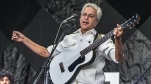 Caetano Veloso, durante su actuación en el Primavera Sound en el 2014.