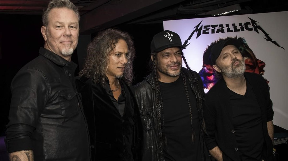 James Hetfield, Kirk Hammett, Robert Trujillo y Lars Ulrich, de Metallica.