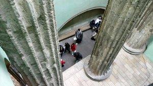 Columnas romanas en la sede del Centre Excursionista de Catalunya.