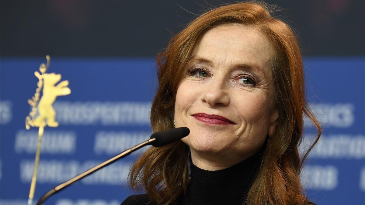 Isabelle Huppert, este sábado en la Berlinale durante la presentación de Eva.