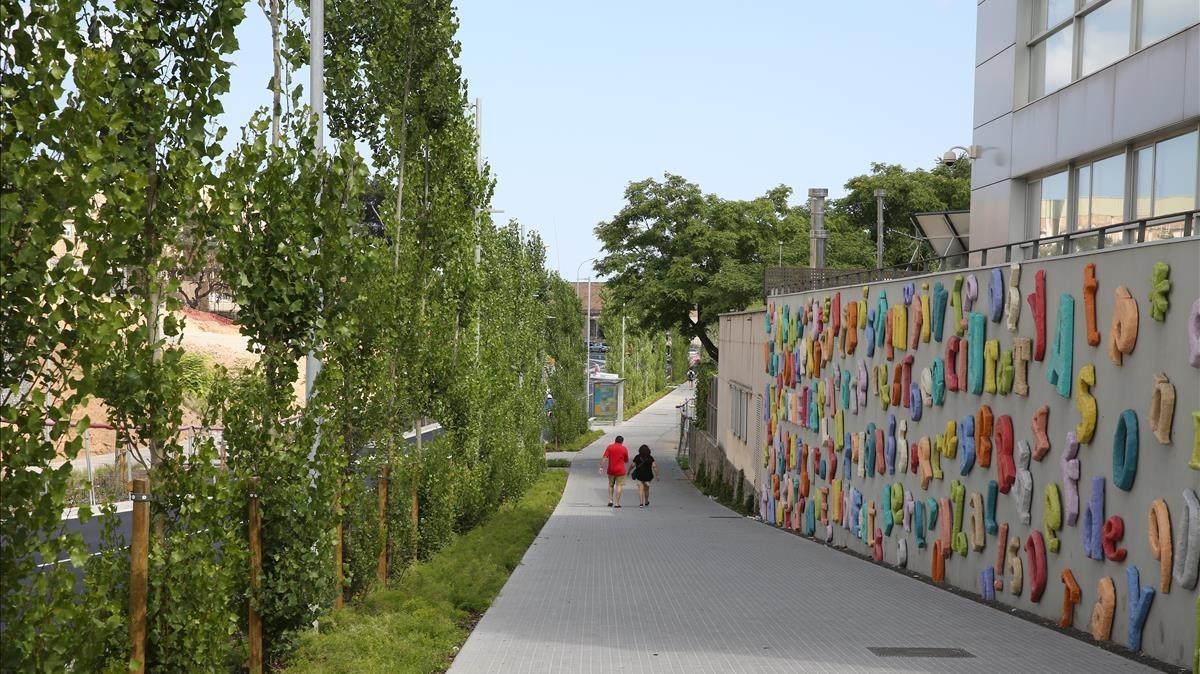 La avenida Alps, de Cornellà, uno de los proyectos en curso.