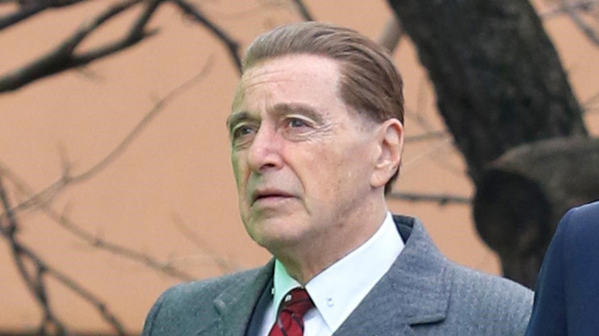 Al Pacino, en el rodaje de la película de Netflix El irlandés.