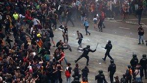 Enfrentamientos en el aeropuerto de El Prat