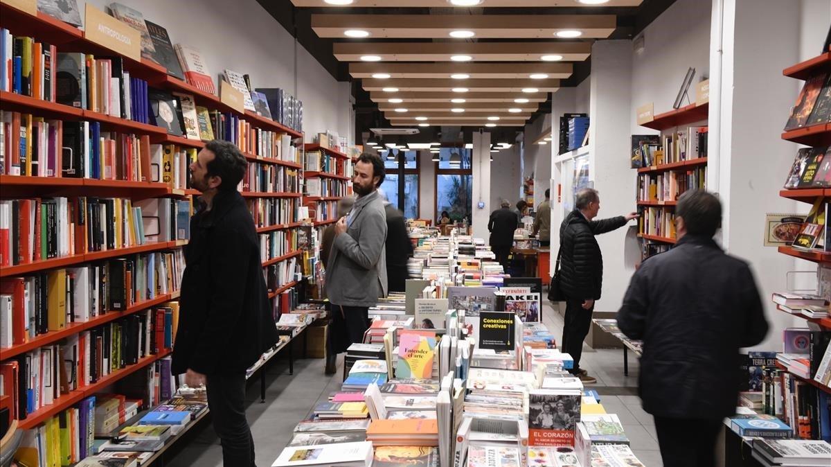 La librería Documenta de Barcelona, el pasado jueves.