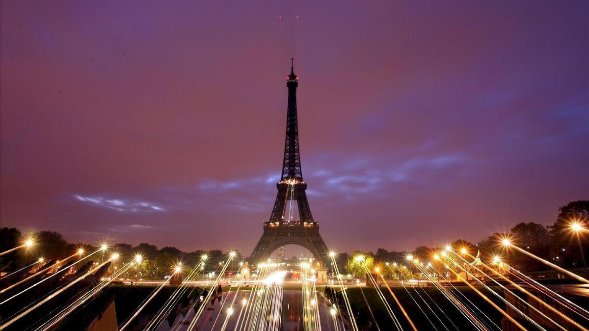 Vista de la Torre Eiffel de París.
