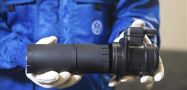 Detalle del filtro de estabilización del flujo de aire de Volkswagen.