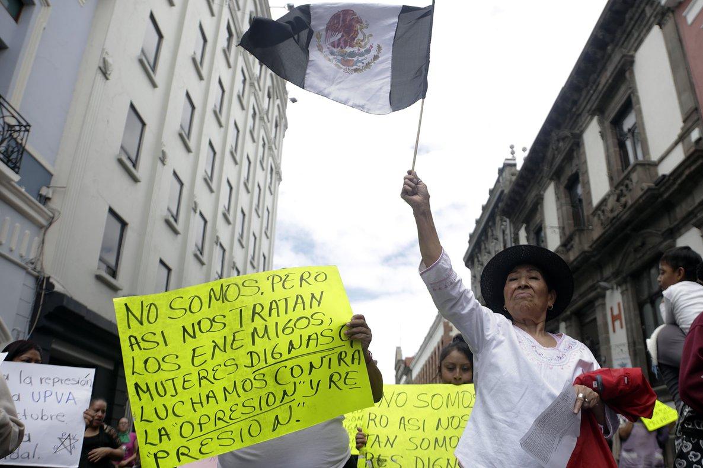 PUEBLAMEXICOOrganizaciones feministasgrupos de trabajadoras sexuales y simpatizantes participan en la Octava Marcha de las Putaspara reclamar el fin de la violencia contra las mujeresEFE Hilda Rios