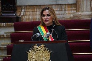 Jeanine Áñez, presidente interina de Bolivia.